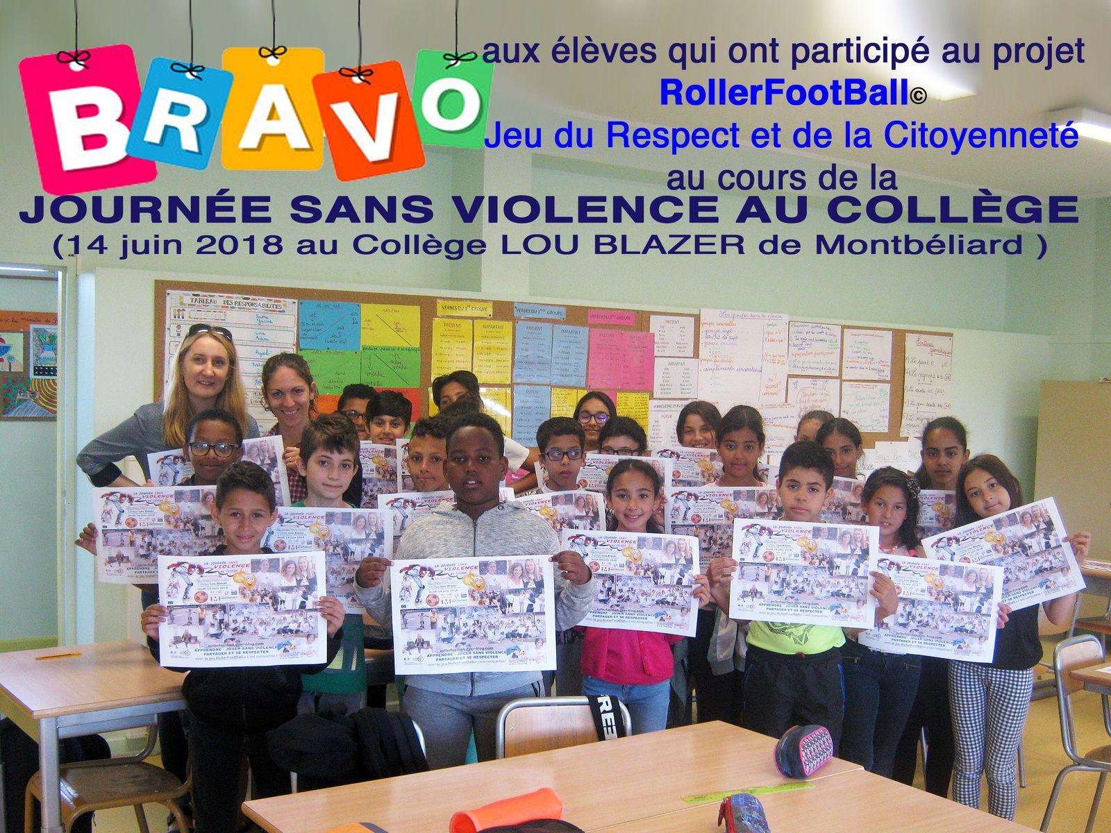 Journée Initiation Découverte 14 juin 2018 à Montbéliard / Journée sans Violence REP+ & Classe Relais