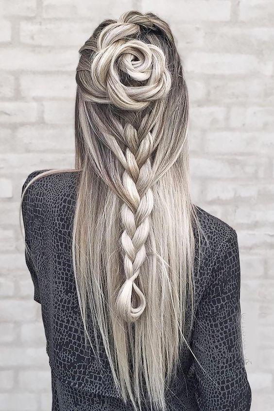 peinados creativos románticos sueltos