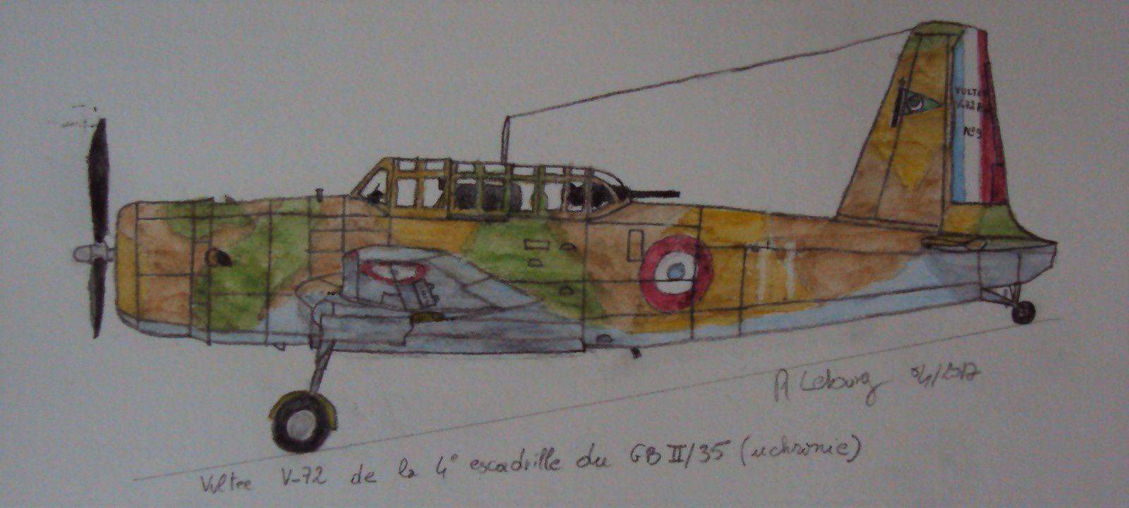 Profil uchronique d'un Vultee V-72 mis en oeuvre par une armée de l'air française continuant le combat depuis l'AFN.