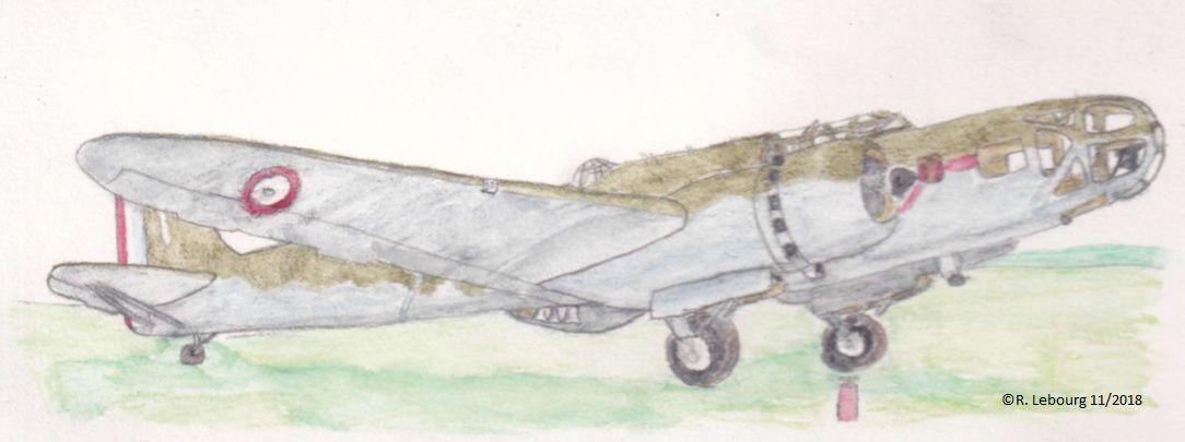 Le Bloch MB-131 n°109 de la 2° escaadrille du 14° GAA, en 1939.