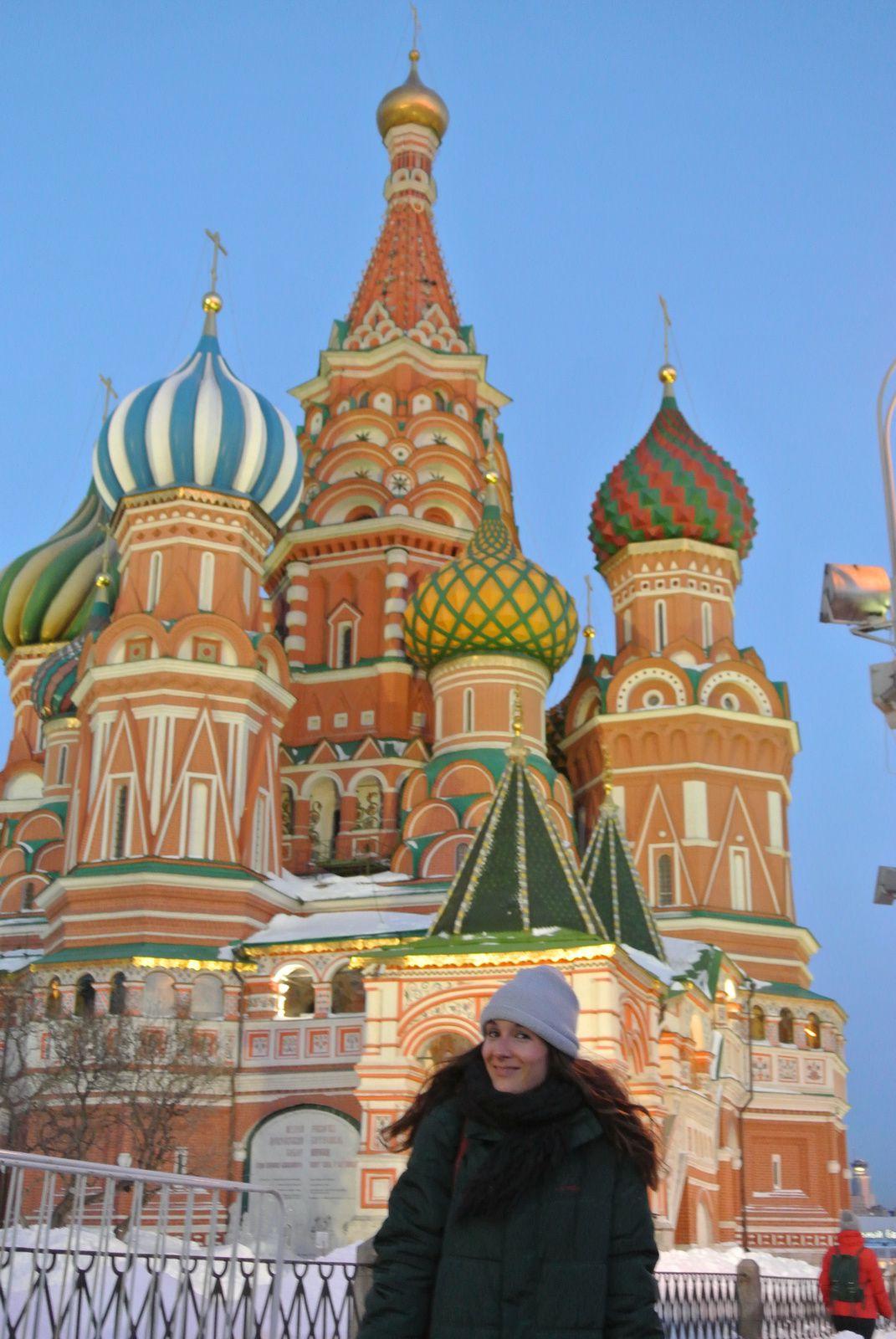 Les jardins (??) du Kremlin et la place Rouge
