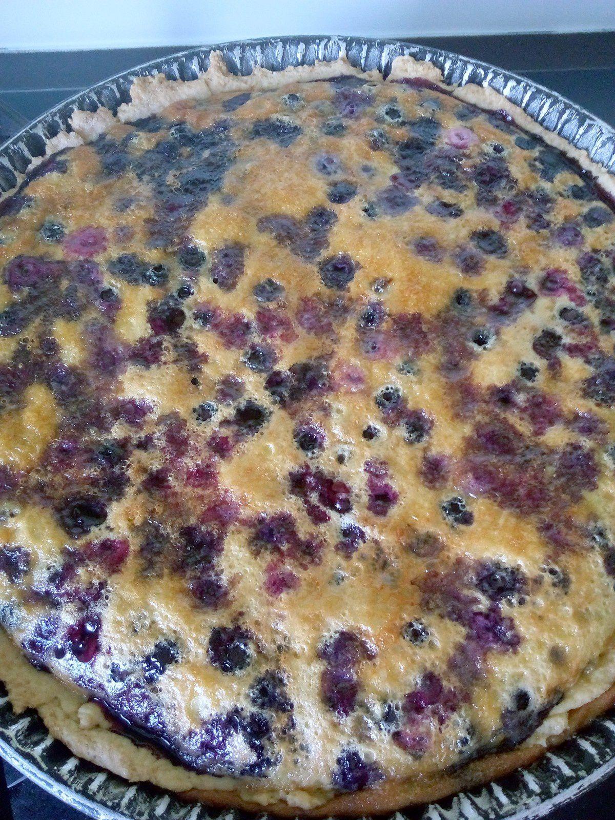 Recette : La tarte aux myrtilles de Noélia