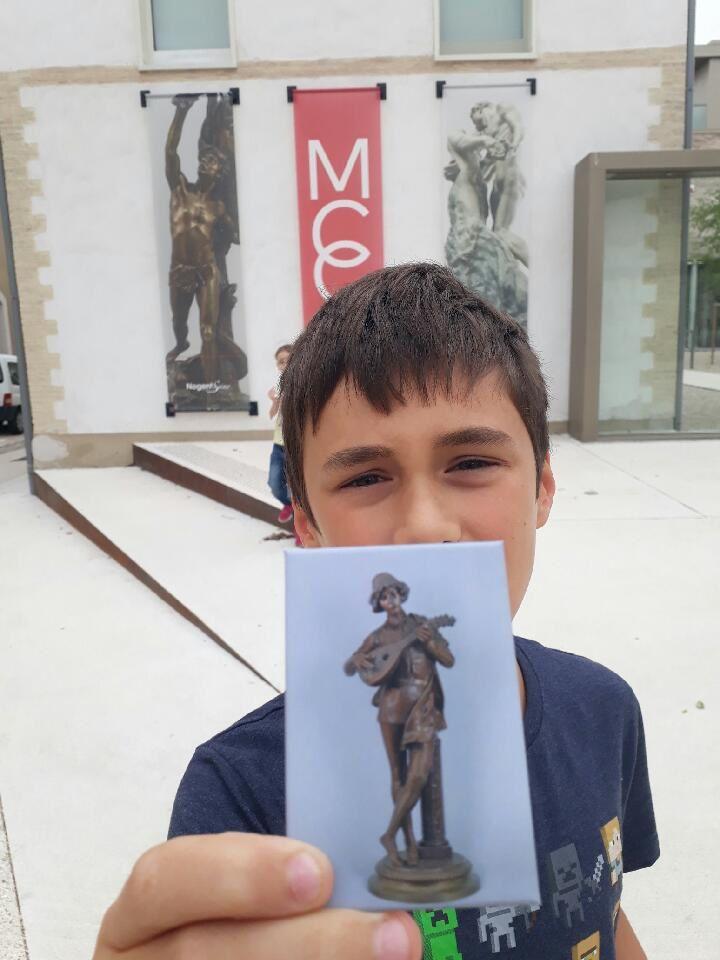 Visite du musée Camille Claudel de Nogent-sur-Seine pour Bébinou et Barbouille