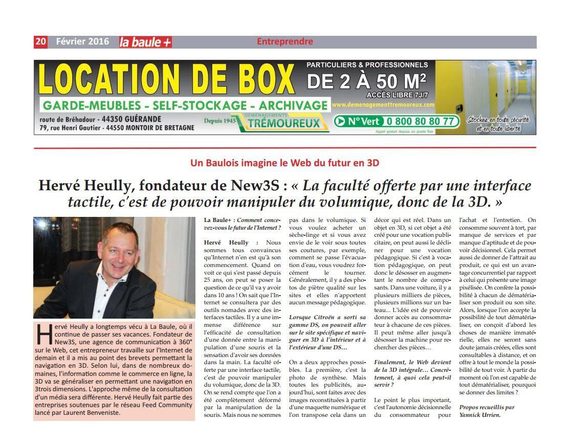 Hervé HEULLY Président New3S : comment conçoit-il l'un des futurs d'Internet - Interview de Kernews La Baule+