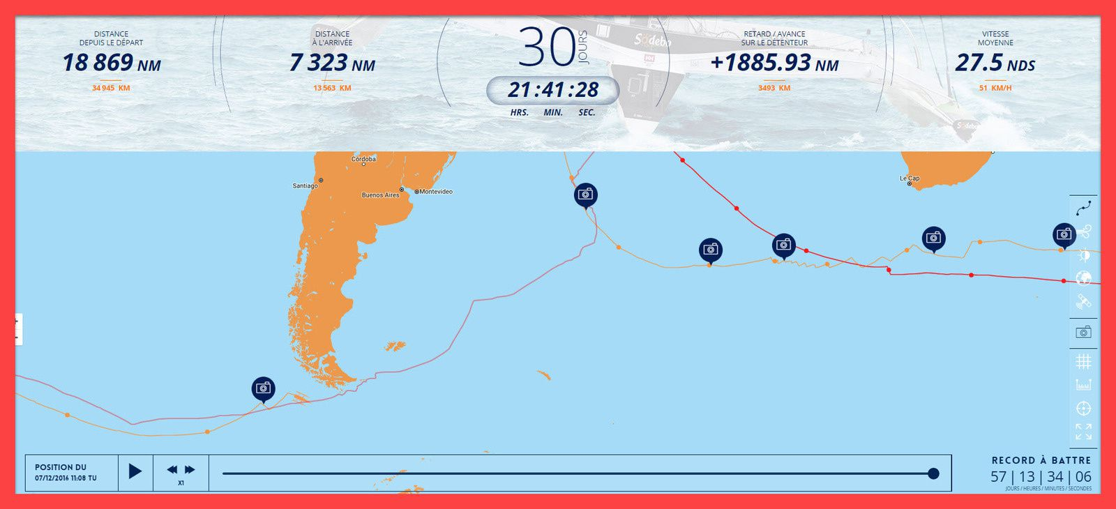 course solitaire trimaran multicoque 2016 sodebo record monde thomas coville