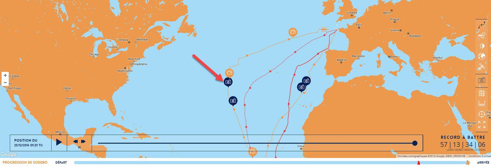 Thomas Coville tour du monde à la voile solitaire record trimaran sodebo