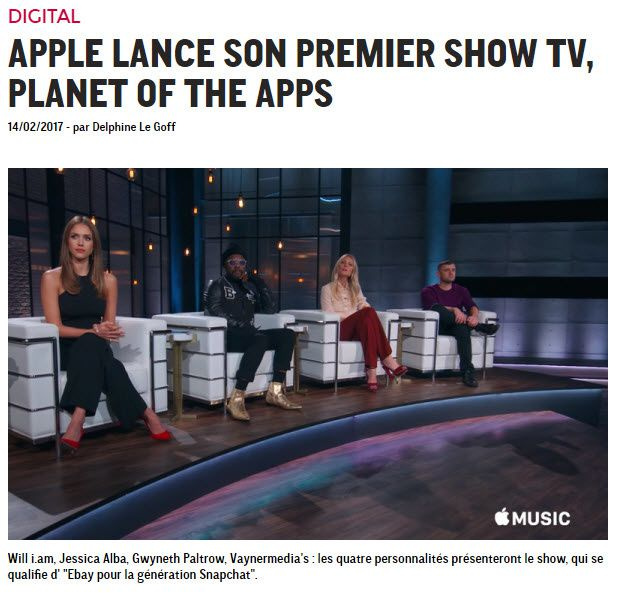 Apple lance son 1er TV Show