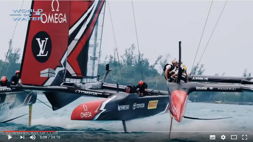 WoW 35th Americas Cup Report #18 Day 8 June 03 17 Part 2. Dramatic Moments so far, more