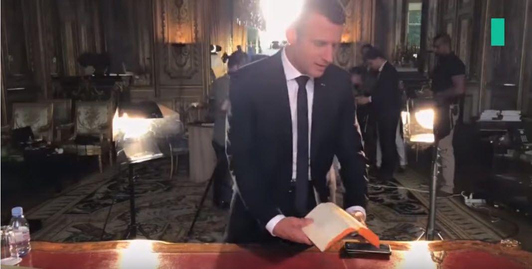 Emmanuel MACRON soigne son image en tant que Président de la République française
