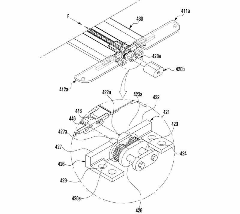 ce brevet concerne surtout son système de charnière