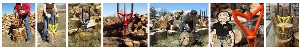 fendeur de buches avec Splitz All : outil de split log / splitting wood / split wood easy faster safer bois de chauffage de firewood be-leader
