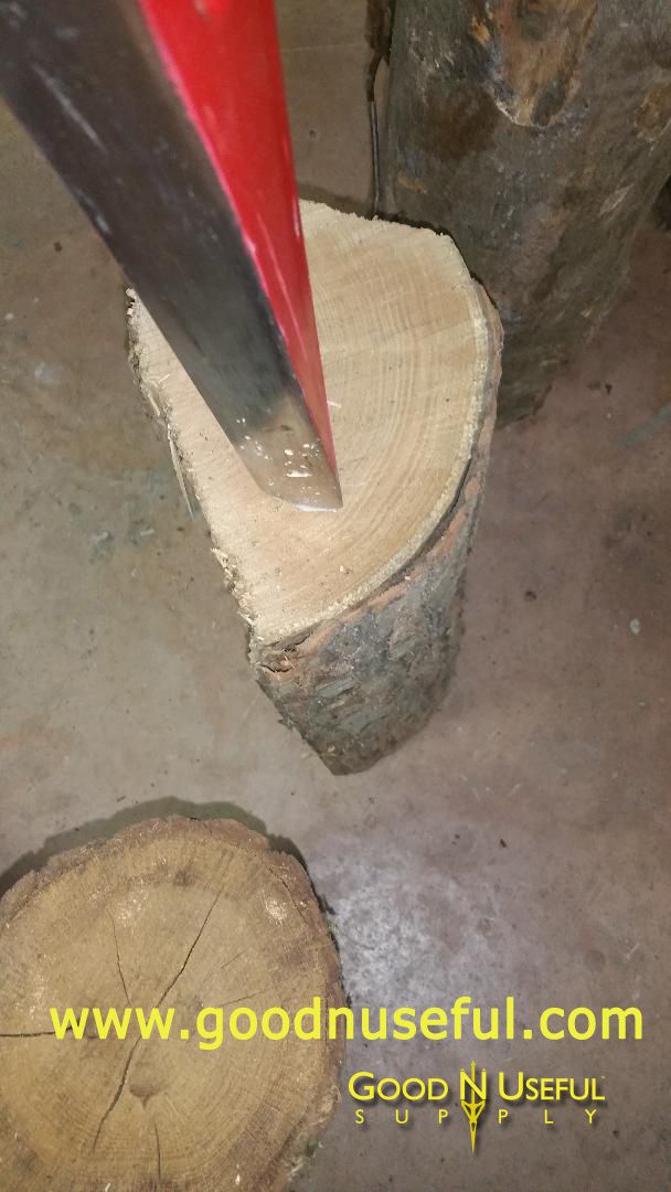 Good-N-Useful  Splitz-All split knotty log firewood wood splitter tool best way safe / Outil ideal innovant revolutionnaire fendeur fendre buche pour bois de chauffage