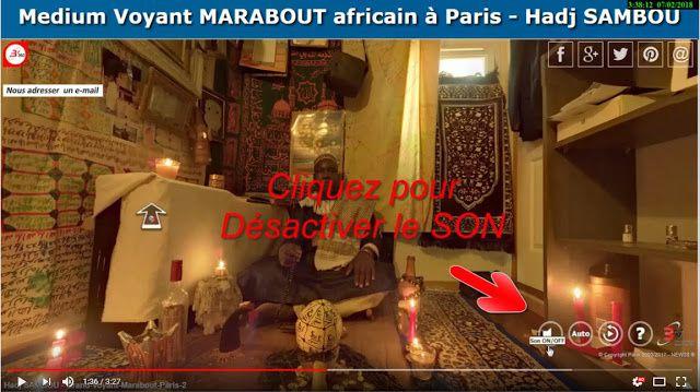 Grand VOYANT MARABOUT africain Hadj SAMBOU sur Paris en 360° - 3V - Vraie Visite Virtuelle - Valued Virtual Visit - www.b360.fr - by New3S   HADJ SAMBOU GRAND VOYANT MEDIUM - TEL 06-785-104-66 SPÉCIALITÉ DU TRAVAIL D'AMOUR ET PROBLÈMES DE COUPLES