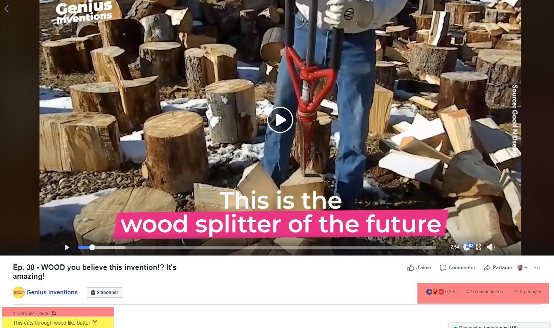SPLITZ-ALL : outil manuel fendeur de buches - splitting wood- log splitter