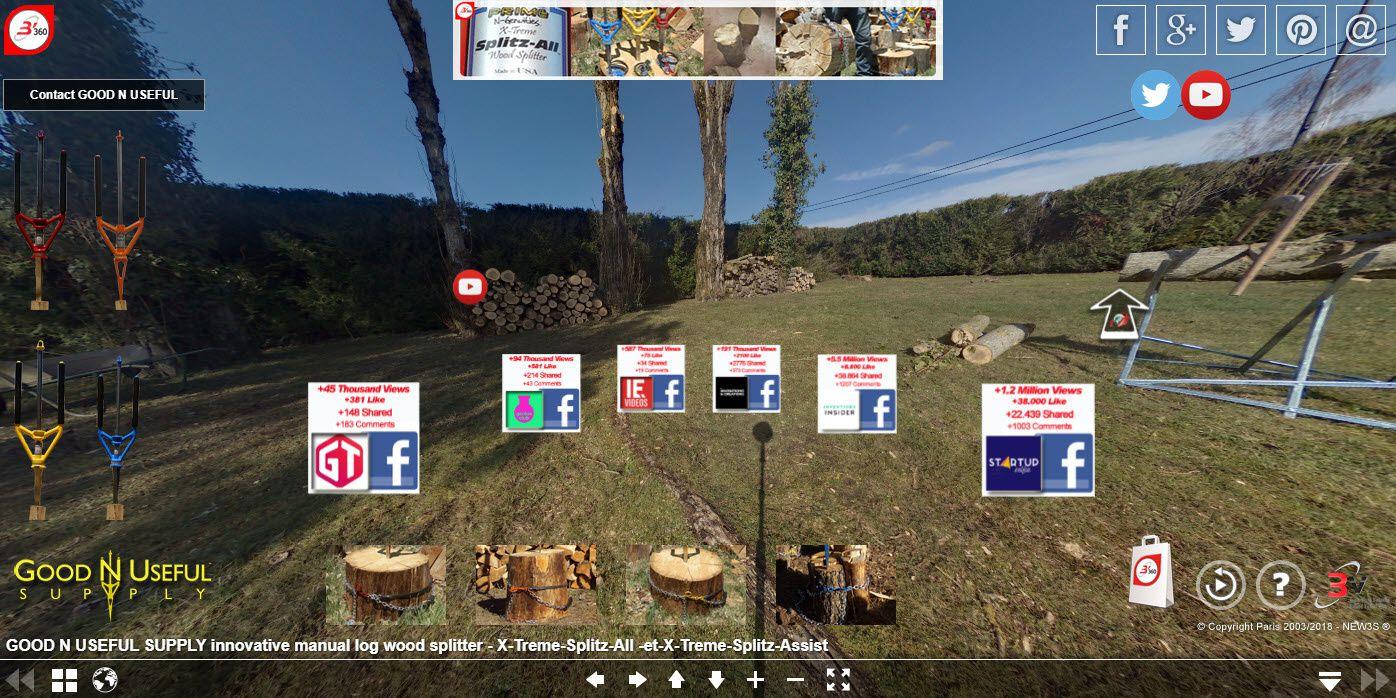 Une gamme d'outils révolutionnaires et innovants pour fendre les bûches de bois en bois de chauffage (assemblage, fente et débit de bois facile et rapide et sûr)