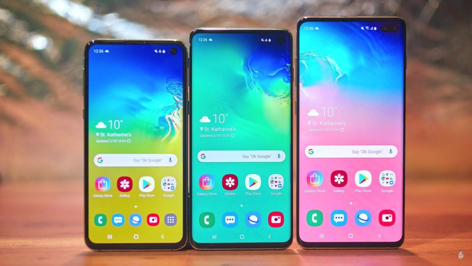 The Samsung Galaxy S10 lineup. YouTube/UnboxTherapy