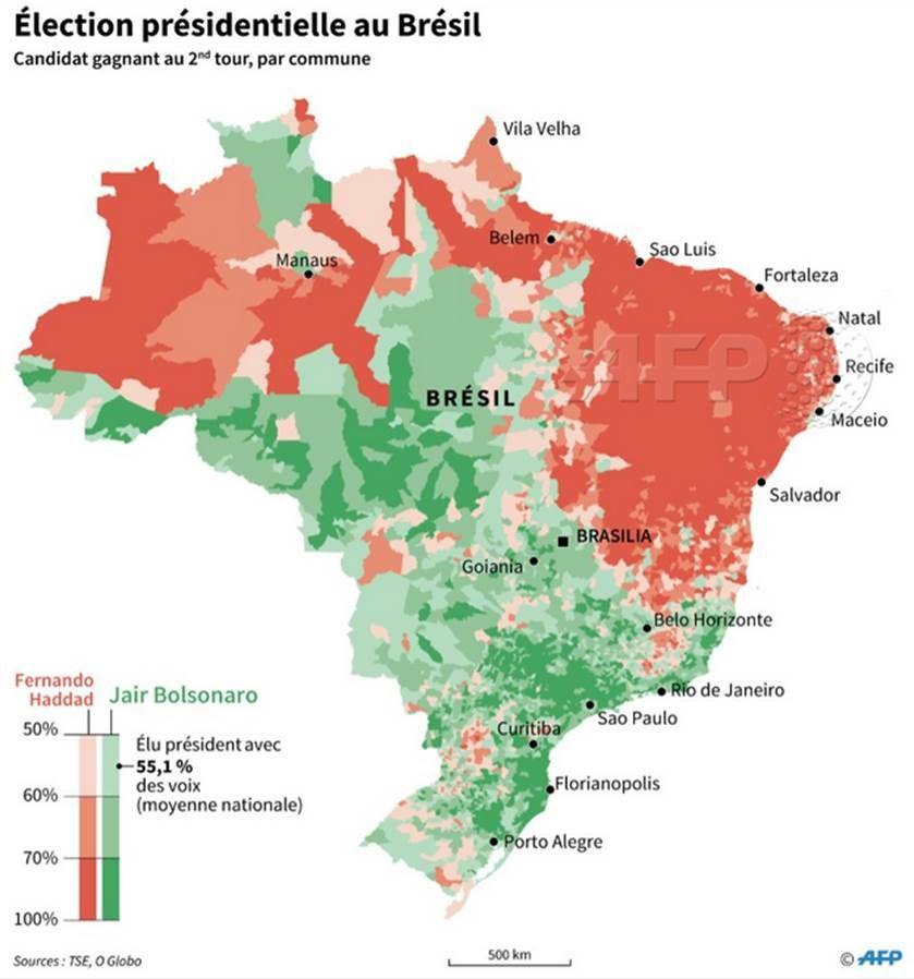 Plus les régions sont riches, plus elles ont voté pour le nouveau Président