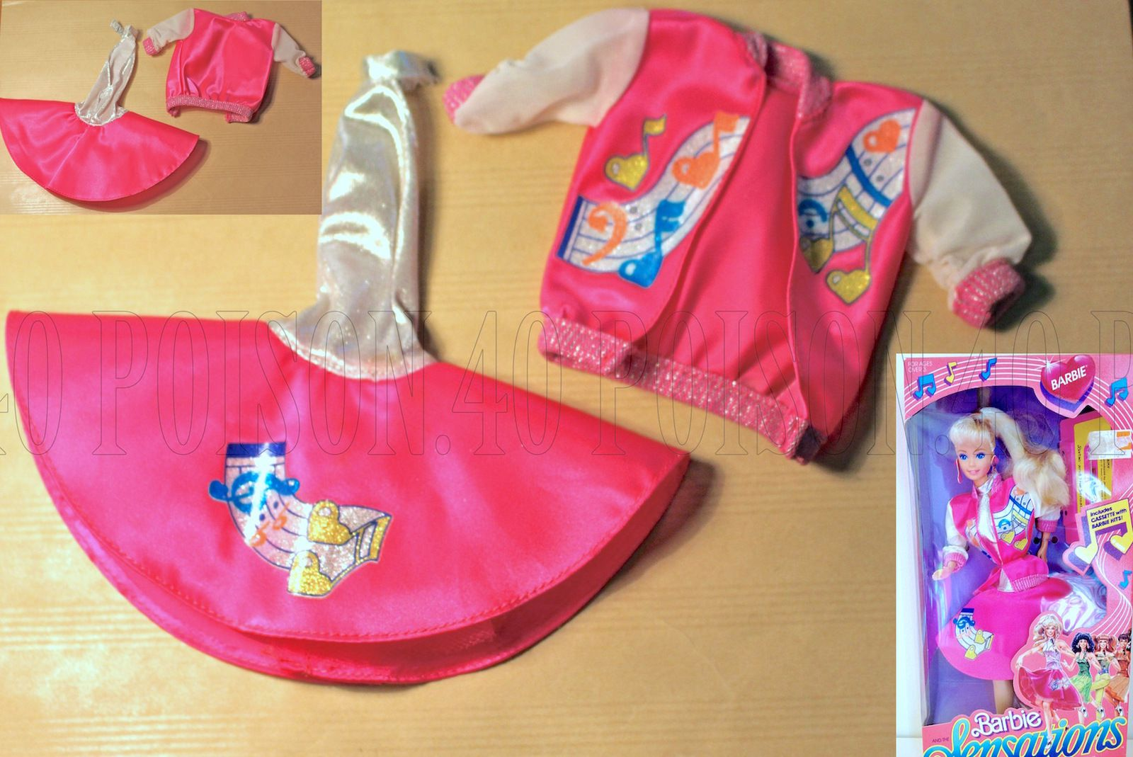 "BARBIE and ""THE SENSATIONS"" DOLL CLOTHES 1987 MATTEL #4931"