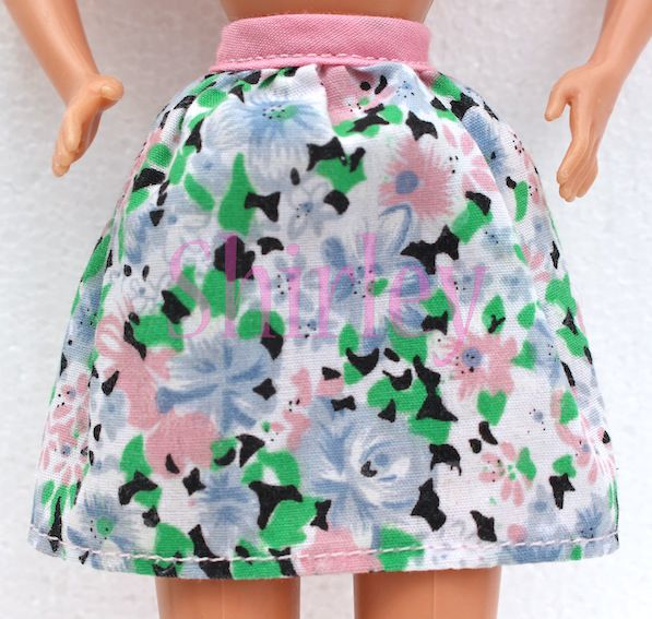 "BARBIE FLOWERED SKIRT ""FASHION FAVORITES"" 1998 #68000-99"