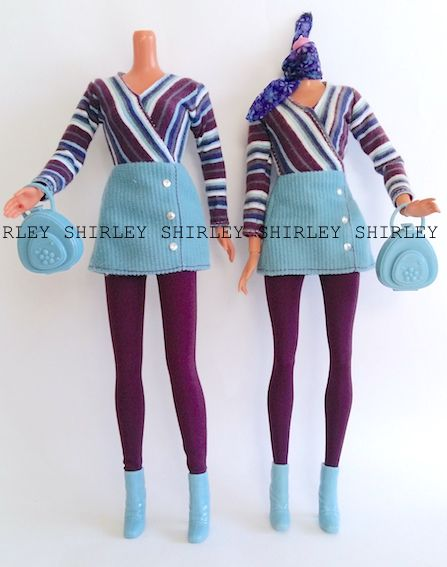 """CORDUROY COOL"" or ""CHIC"" BLONDE BARBIE DOLL CLOTHES 1998 MATTEL #24658"