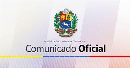 REPUBLIQUE BOLIVARIENNE DU VENEZUELA MINISTERE DU POUVOIR POPULAIRE POUR LES RELATIONS EXTERIEURES COMMUNIQUE