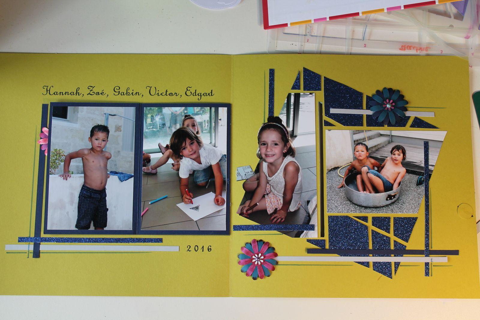 Victor, Zoé, Edgard, Gabin, et Hannah Août 2016