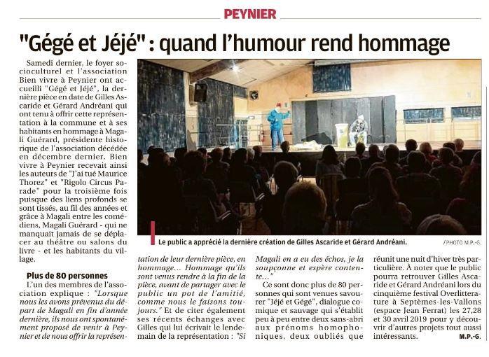 Gégé et Jéjé : quand l'humour rend hommage...