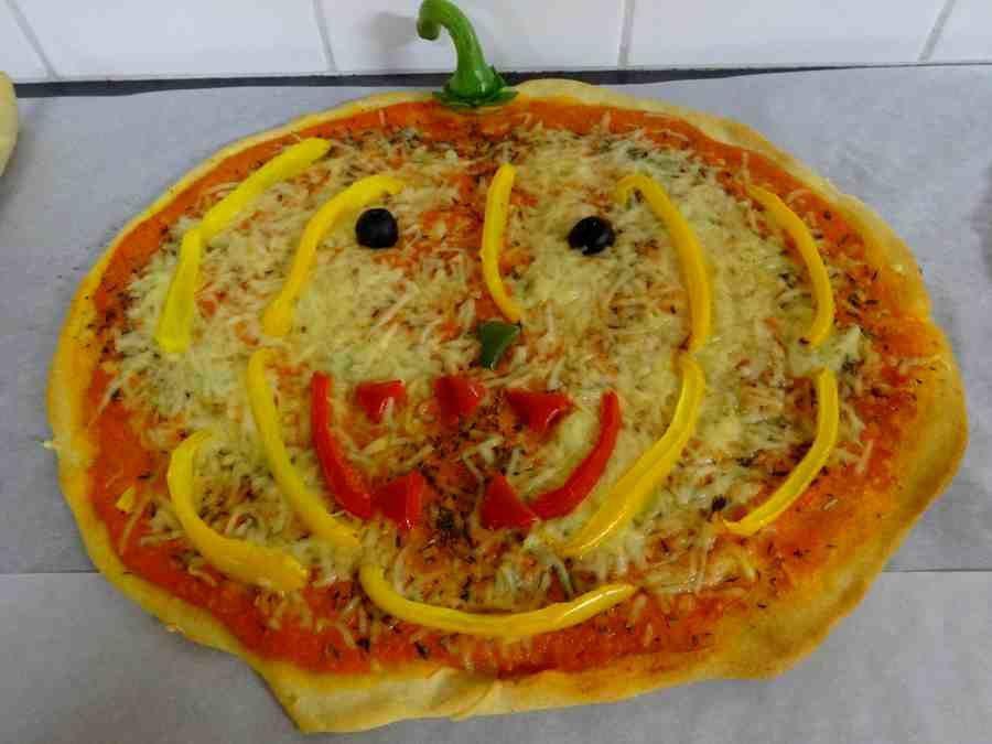 pizza citrouille Halloween