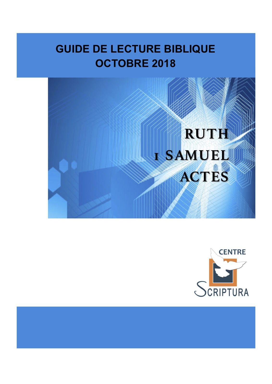 Guide de lecture Biblique Octobre 2018