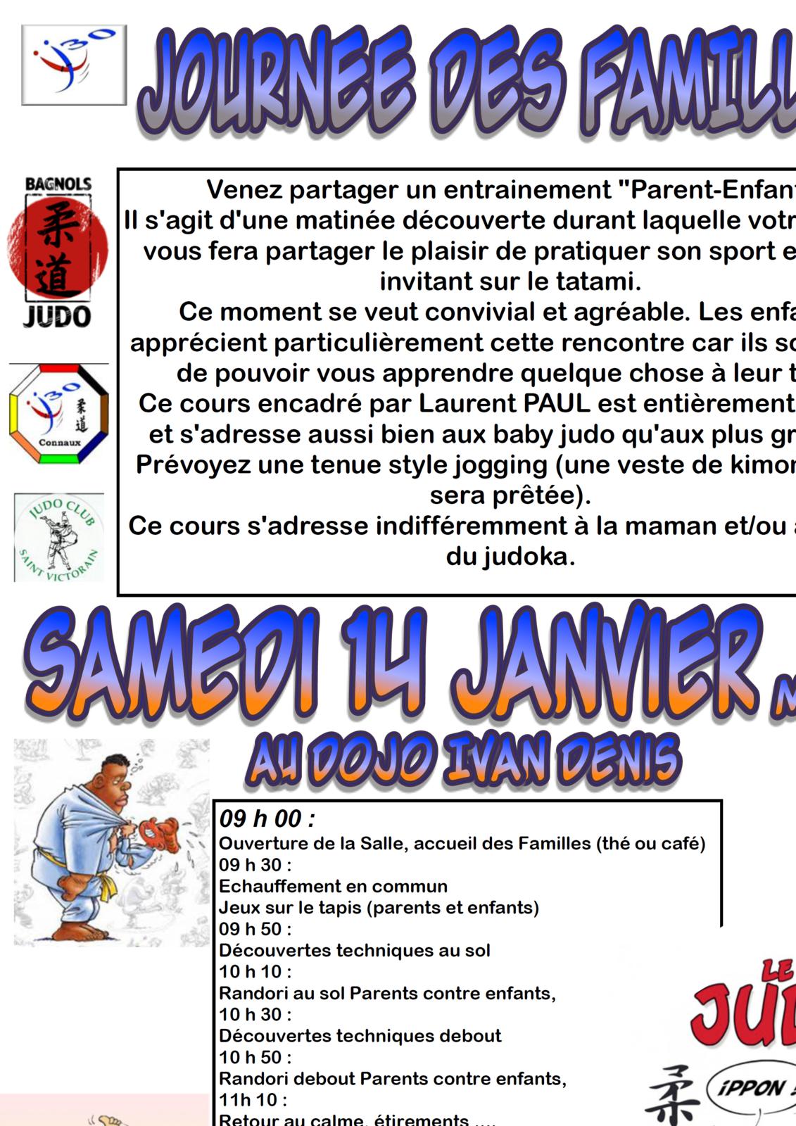 SAMEDI 14 JANVIER: Journée des familles
