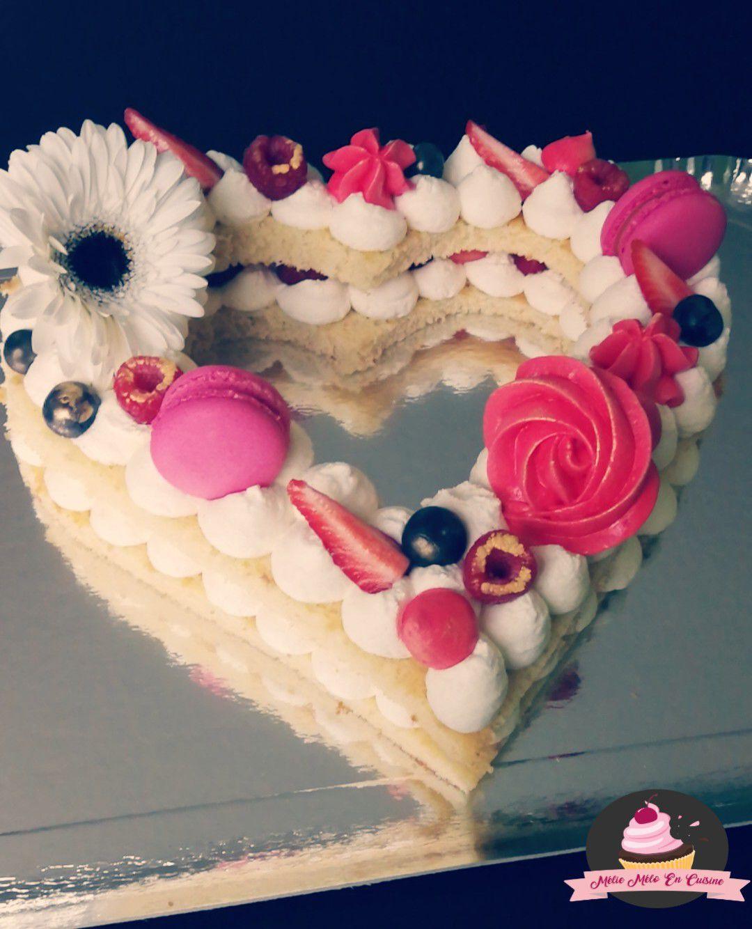 number cake coeur (avec ou sans thermomix )