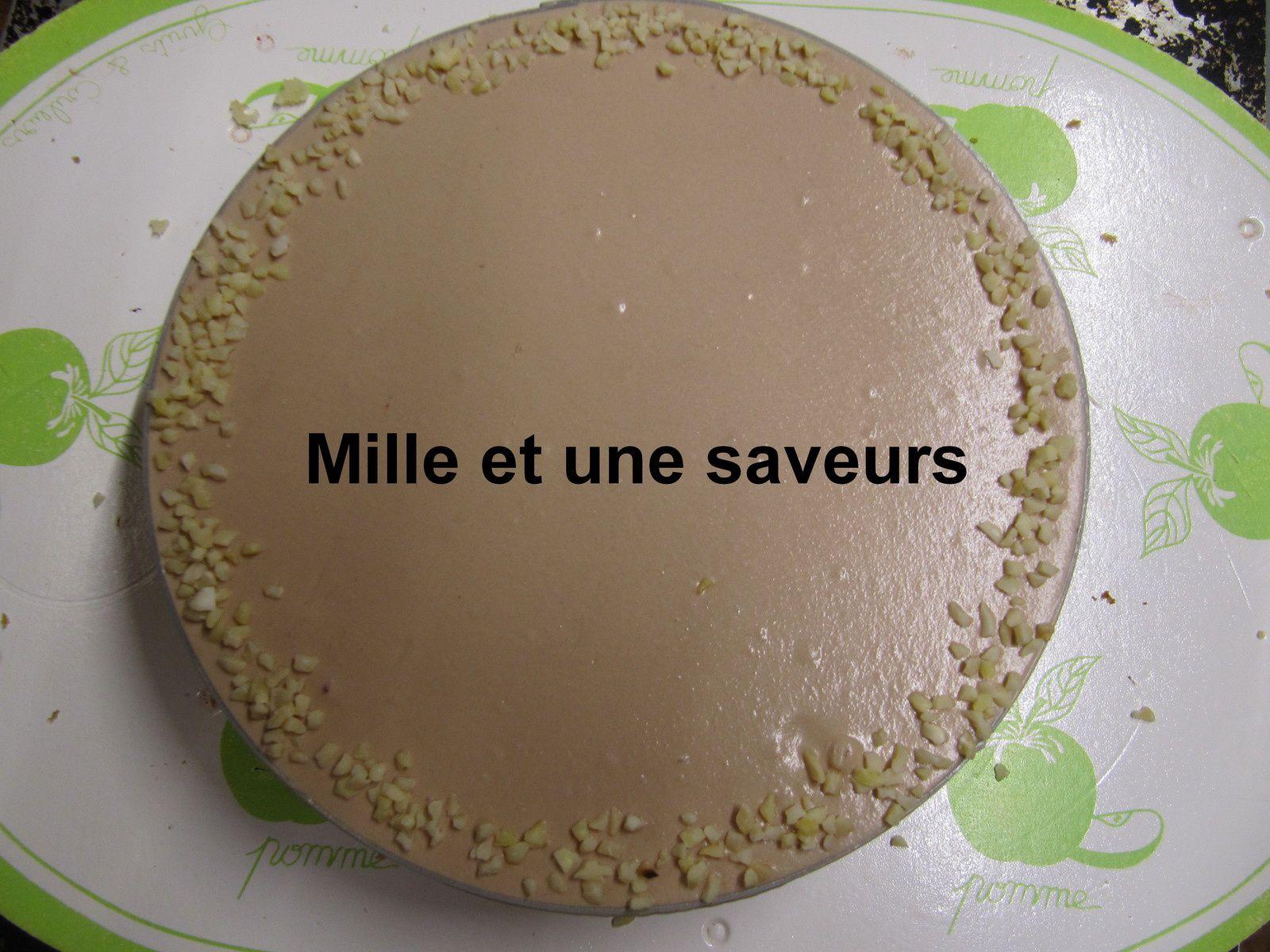 Entremet vanille, chocolat au lait