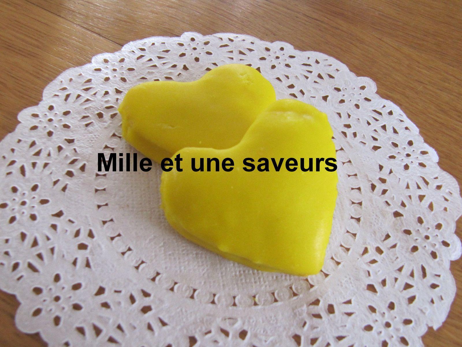 Petits coeurs sablés citronnés