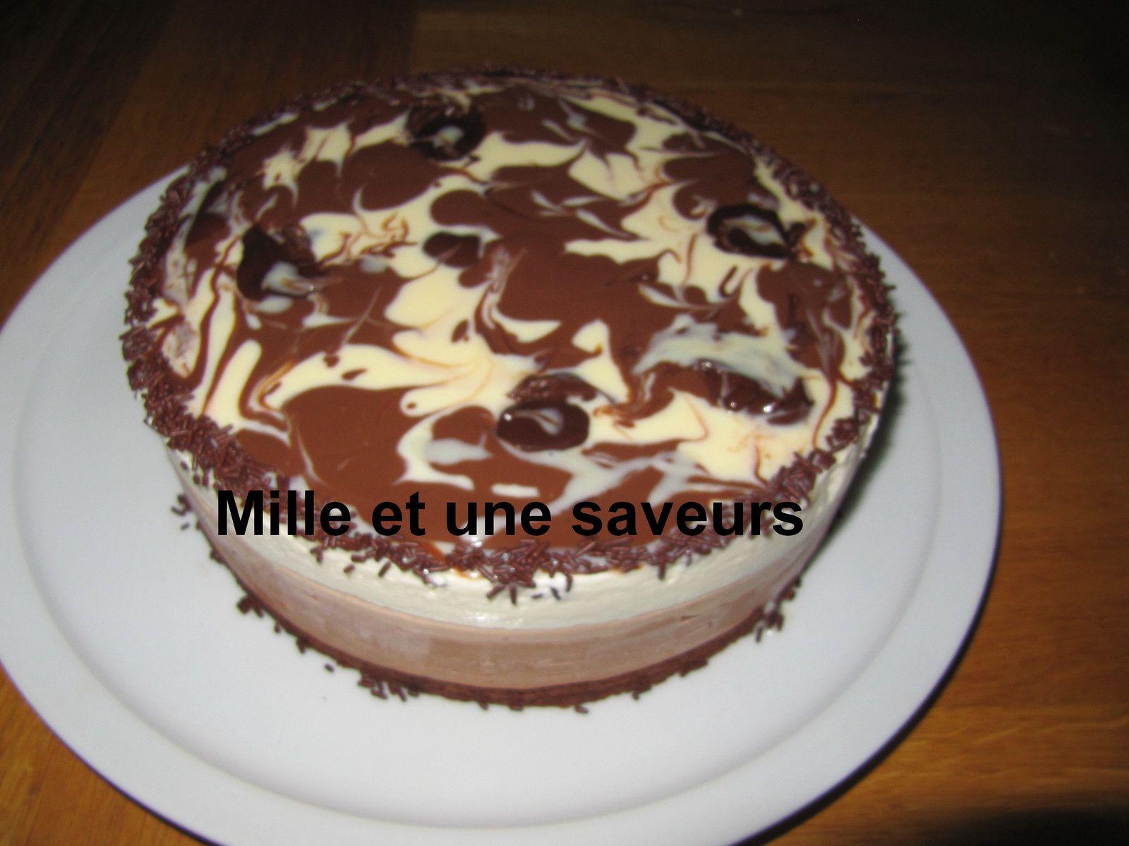 Bavarois 3 chocolats et ses marbrures
