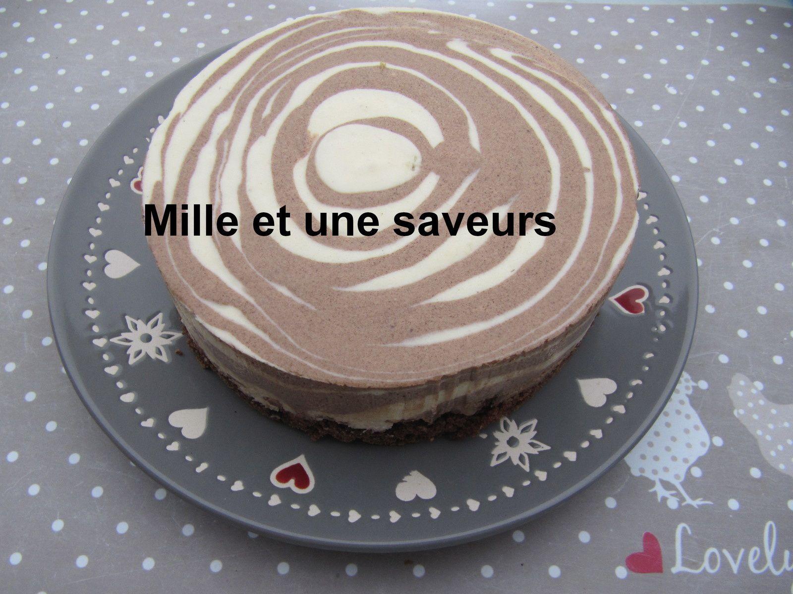 Bavarois en spirale à la vanille et au chocolat