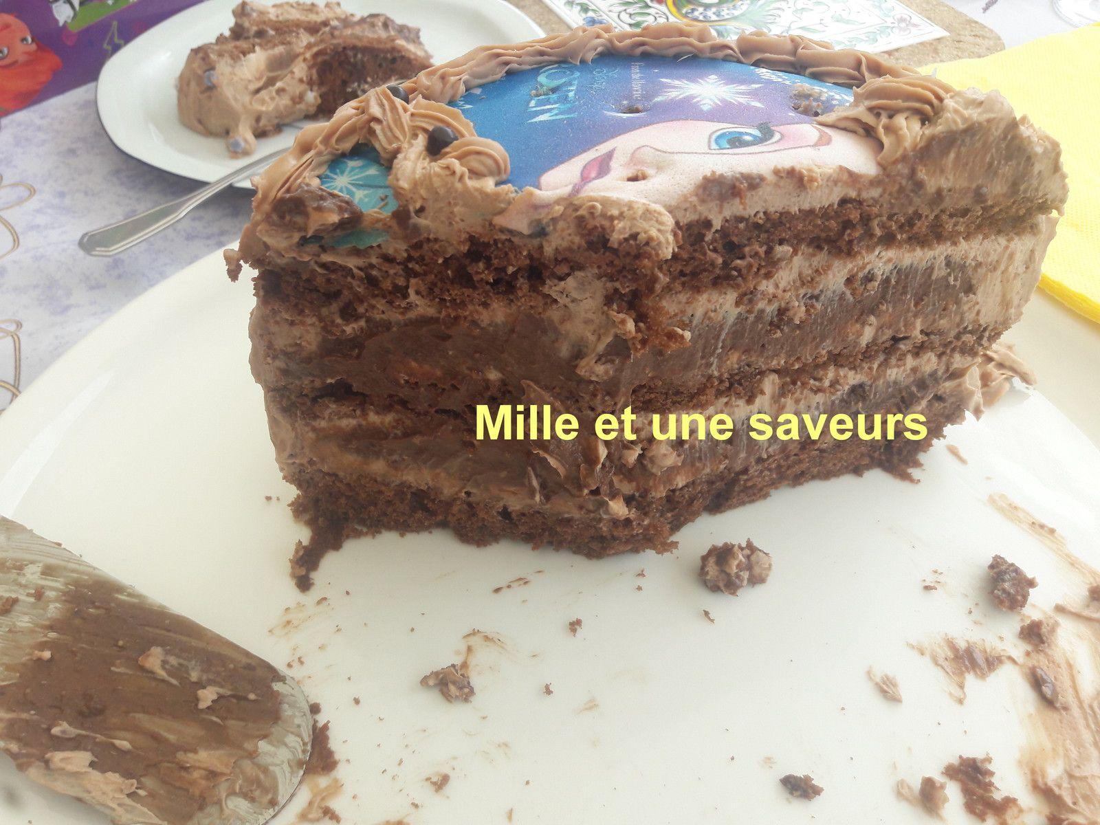 Layer cake en Reine des Neiges