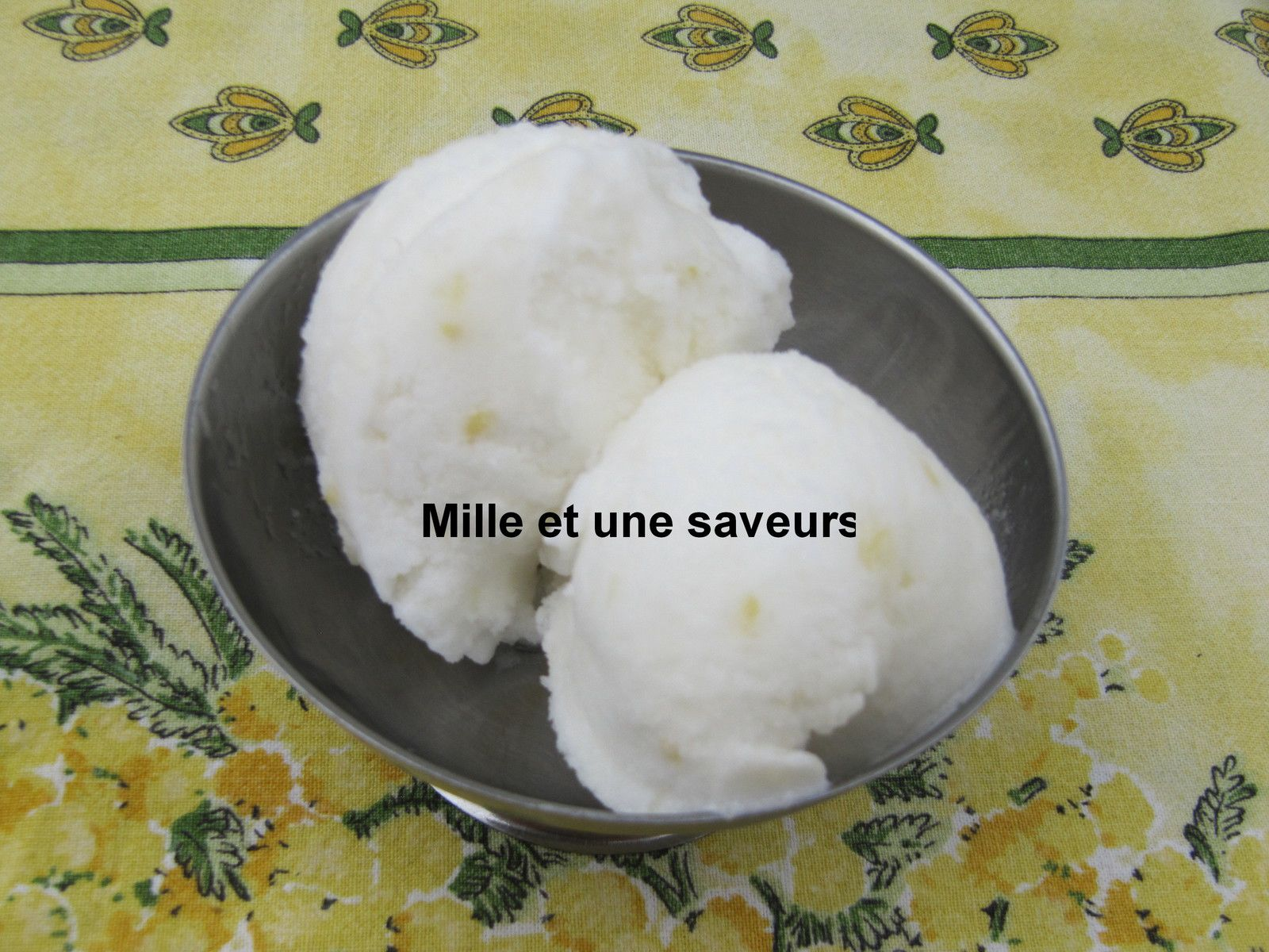 Sorbet citron thermomix
