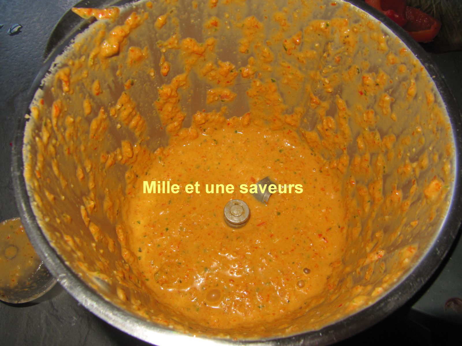 Pesto de poivron rouge au thermomix