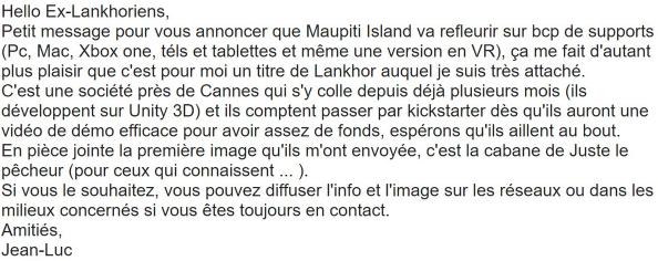 Jérôme Lange bientôt de retour sur Maupiti Island ?