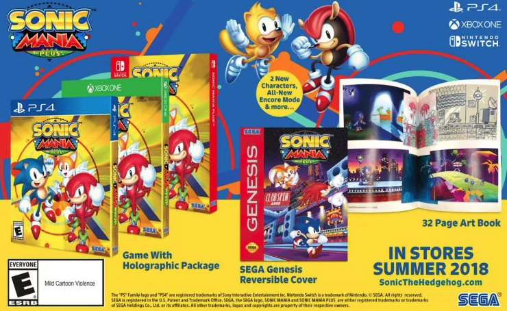 Sonic Mania en boite ! L'été sera chaud !
