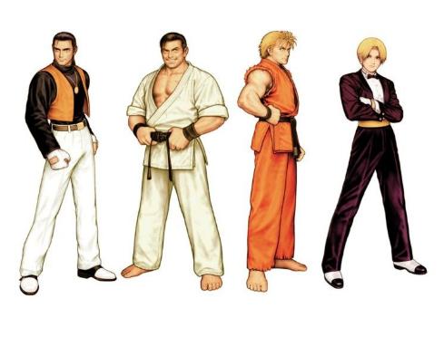 De gauche à droite : Robert, Takuma, Ryo et King