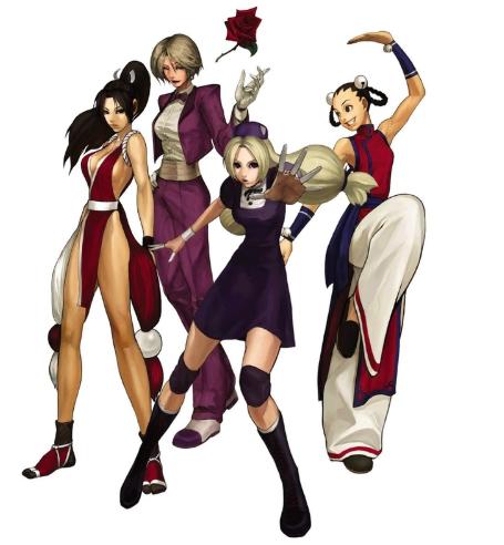 De gauche à droite : Mai, King, Hinako et Xiang Fei