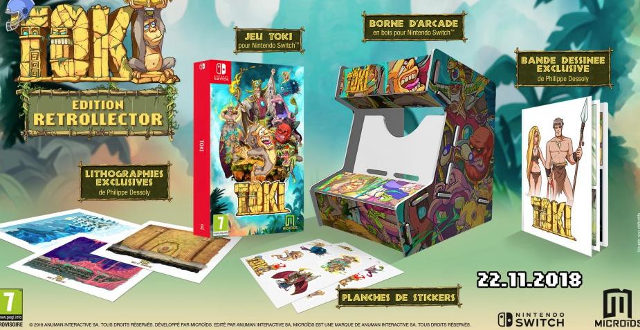 Une borne d'arcade TOKI pour votre Switch !