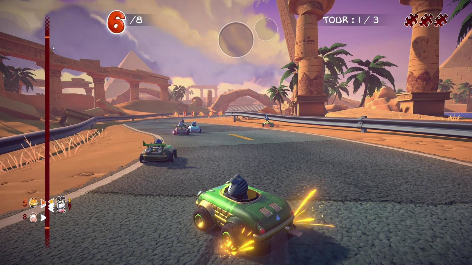Garfield plus fort que Mario Kart ?!