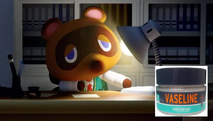 Un pot de vaseline offert avec Animal Crossing !
