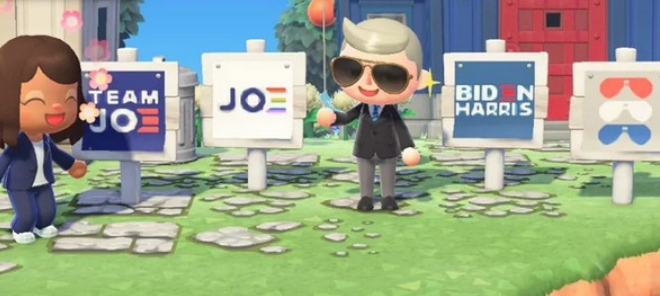 Joe Biden dans Animal Crossing