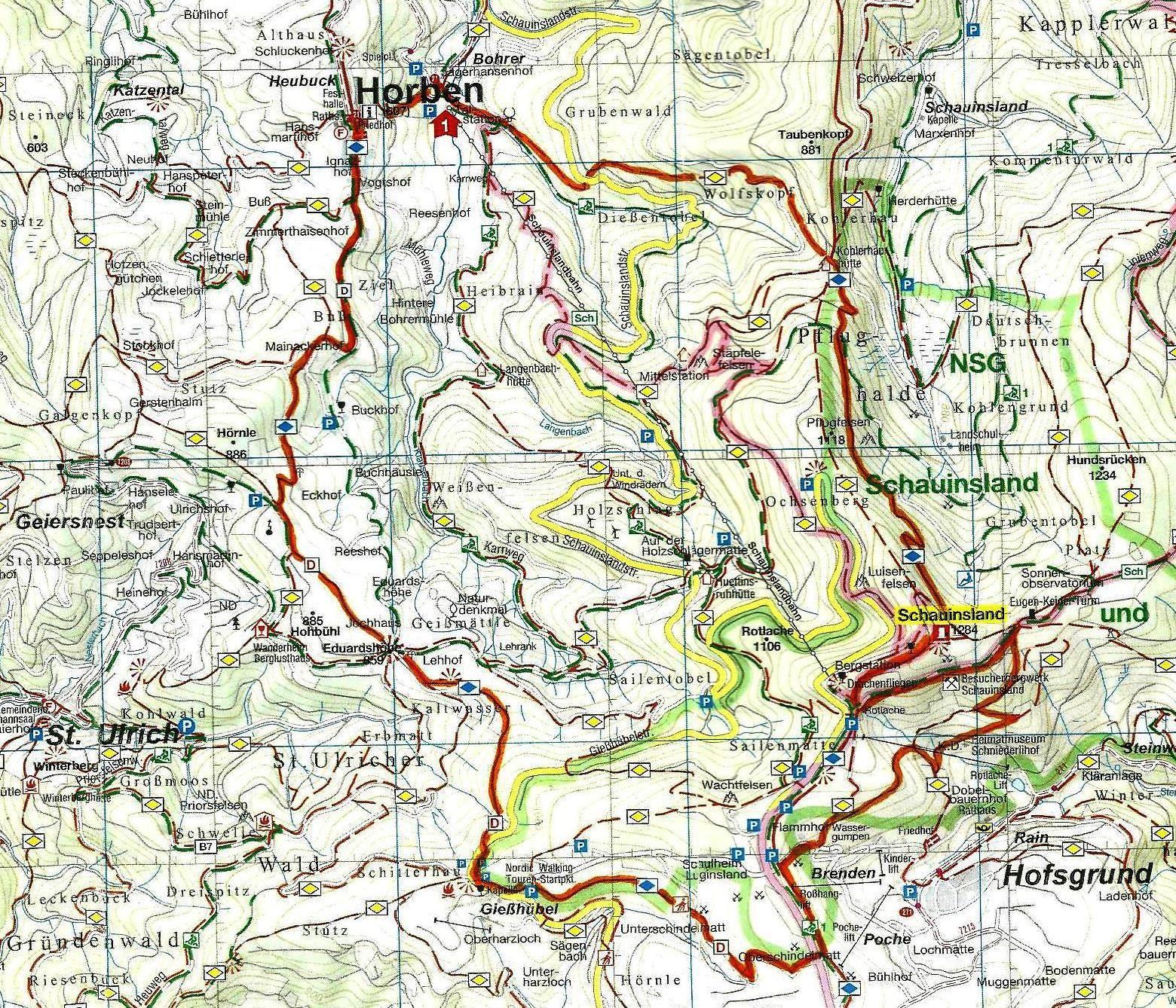 Mercredi 7 juin - Randonnée vers le Schauinsland et le Schniederlihof