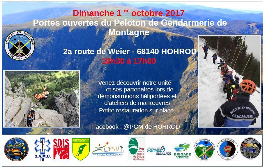 Dimanche 1er octobre - Portes ouvertes au PGM, Peloton de gendarmerie de montagne