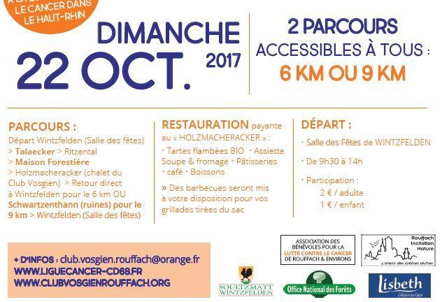 Dimanche 22 octobre - 7e marche de la Ligue, avec le Club vosgien de Rouffach