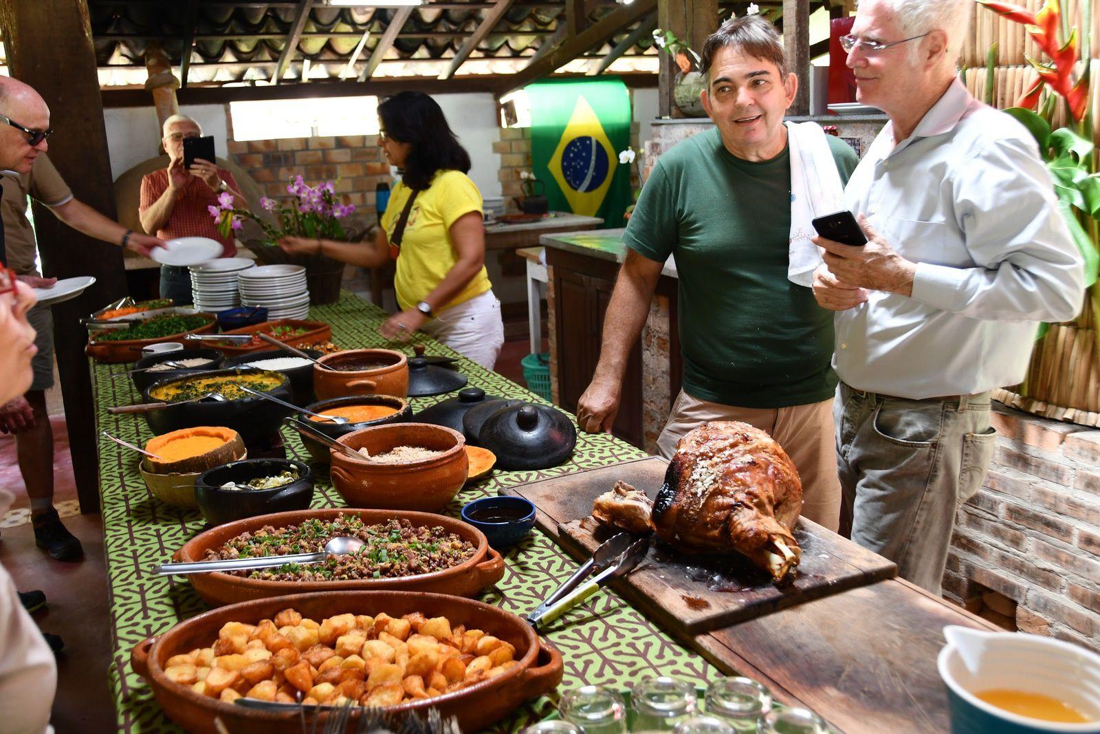 Accueil par nos amis brésiliens